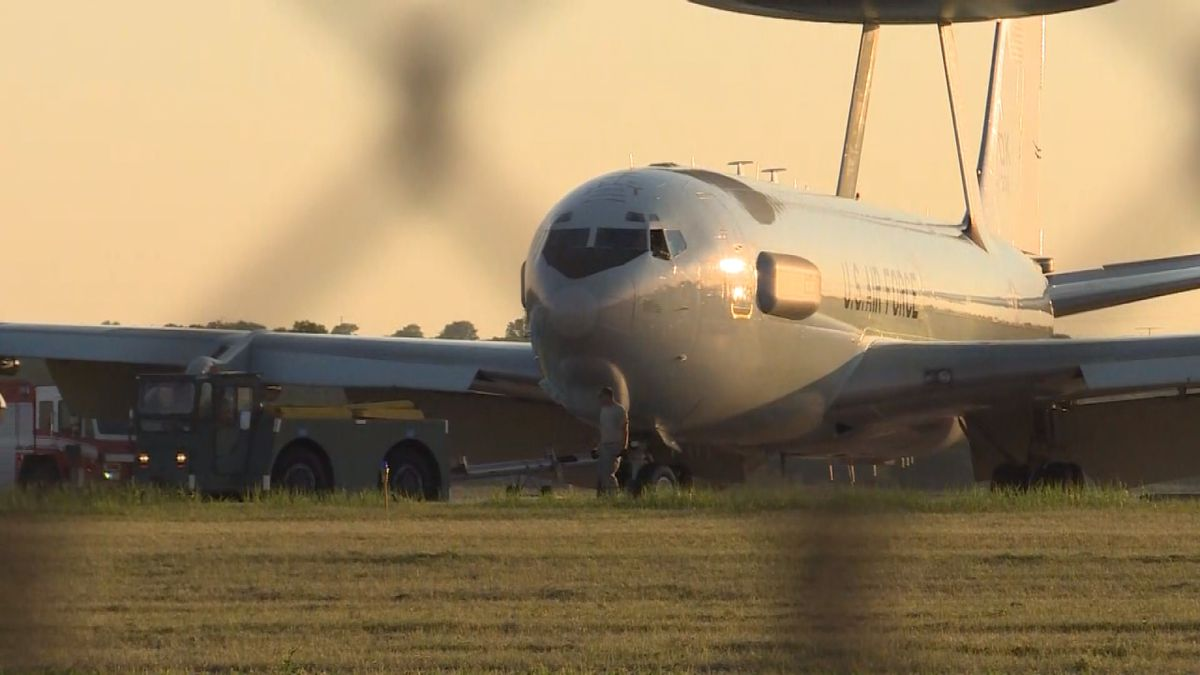 Six people are safe after an U.S. Air Force AWACS plane needed to make an emergency landing on...