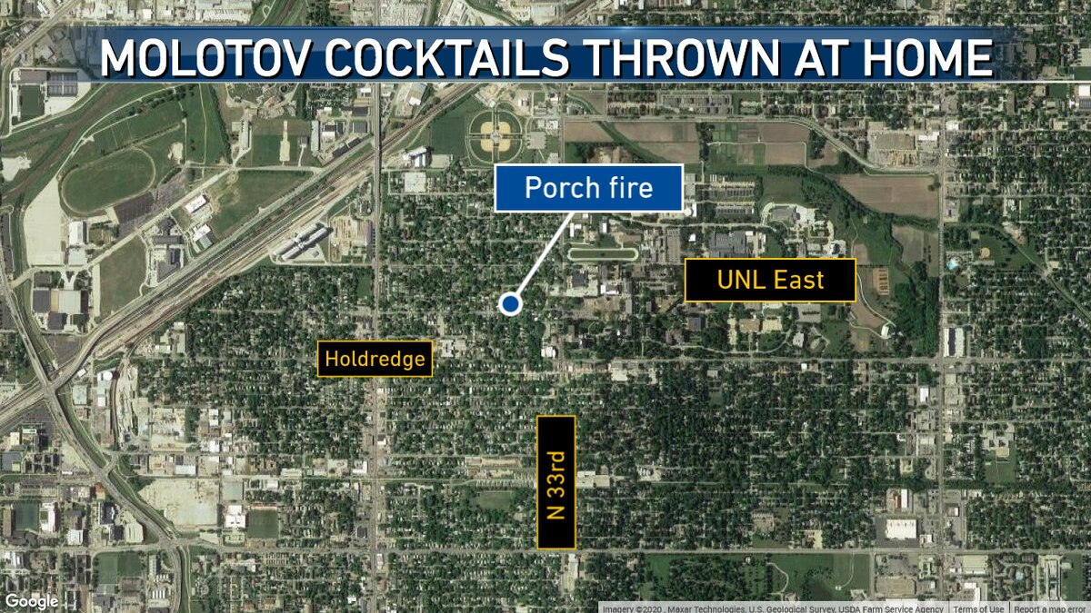 The Lincoln Police Department is investigating after Molotov cocktails were thrown at a home.