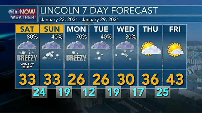 Another round of light snow and ice is possible on Saturday.