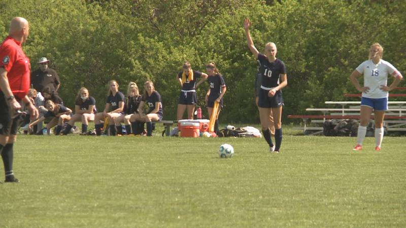 Lincoln Lutheran girls soccer wins the B-6 district title on Saturday.