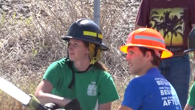Lincoln firefighters and Alliance High School wrestlers come together for specialized challenge.
