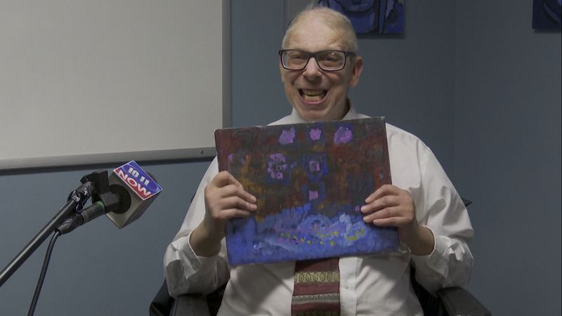 Billy Hasbury is an artist at Live Yes Studio, a program for adults with disabilities, that's...