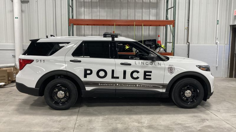 A reminder of what official Lincoln Police cruisers look like.