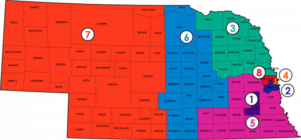 State Board of Education District Map
