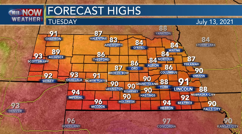 Warmer today compared to yesterday.