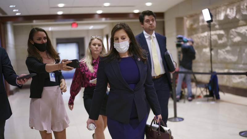 Rep. Elise Stefanik, R-N.Y., who has been endorsed by GOP leaders to replace Rep. Liz Cheney,...