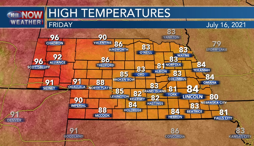 Warmer, but much of the area will still be below average Friday.
