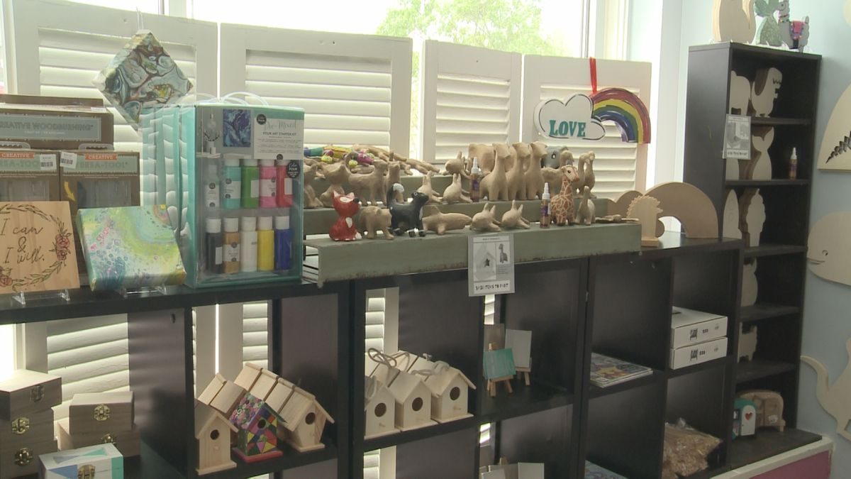 Makit Takit Craft Studio is offering already assembled craft kits. <br />The owner says it's been difficult not seeing customers regularly, but they're finding new ways to keep people engaged.