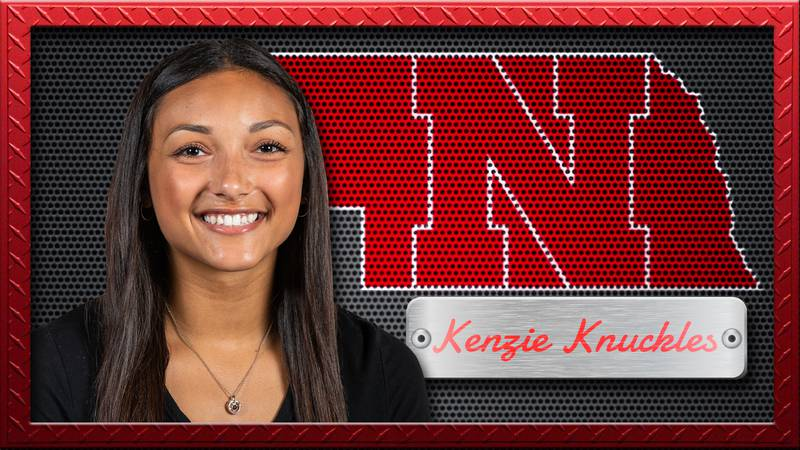 Kenzie Knuckles is a defensive specialist on the Nebraska volleyball team.