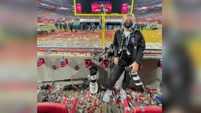 Capturing big moments for the big game. UNL student and Ashland native, Maddie Washburn,...
