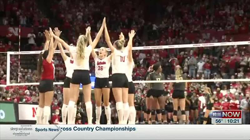 Nebraska volleyball defeats #7 Purdue