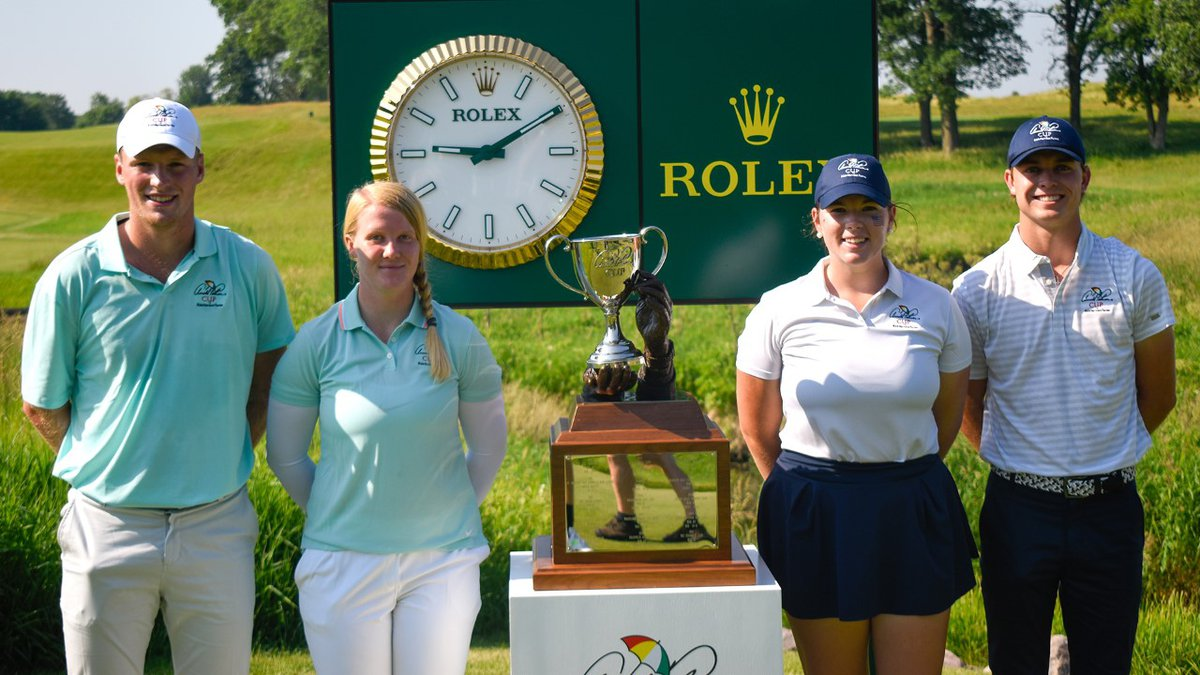 Nebraska women's golfer Kate Smith teamed with Vanderbilt's William Moll for a Mixed Fourball...