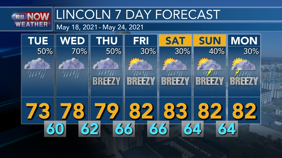 Active weather with off and on chances for rain will continue through this week with warmer...