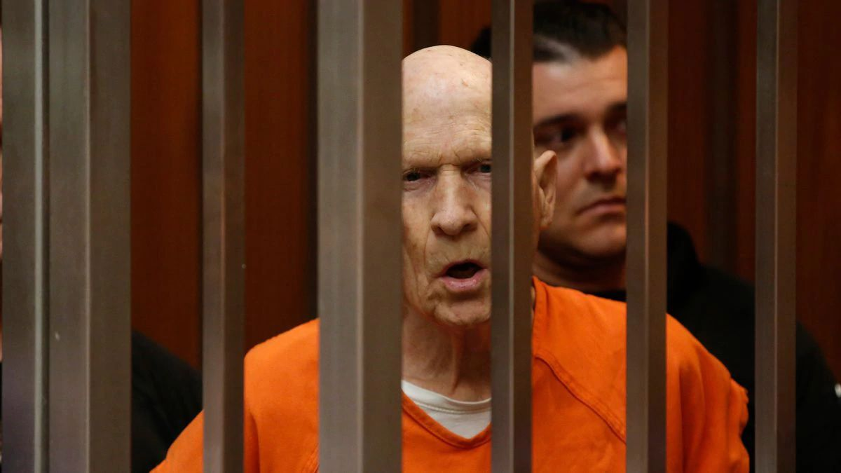 In this March 12, 2020, file photo, Joseph James DeAngelo, charged with being the Golden State Killer, appears in court in Sacramento, Calif. The 74-year-old former police officer is tentatively set to plead guilty Monday, June 29, 2020, to being the elusive Golden State Killer. The hearing comes 40 years after a sadistic suburban rapist terrorized California in what investigators only later realized were a series of linked assaults and slayings.(AP Photo/Rich Pedroncelli, File)