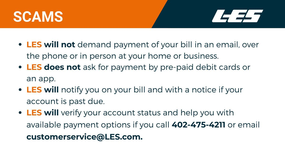 The Lincoln Electric System is warning it's customers about a potential scams.